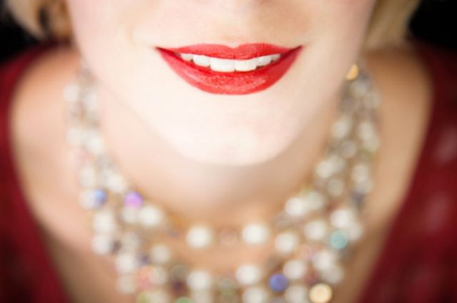 Smile of a woman with a necklace San Leandro